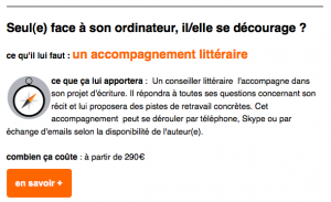accompagnement litteraire